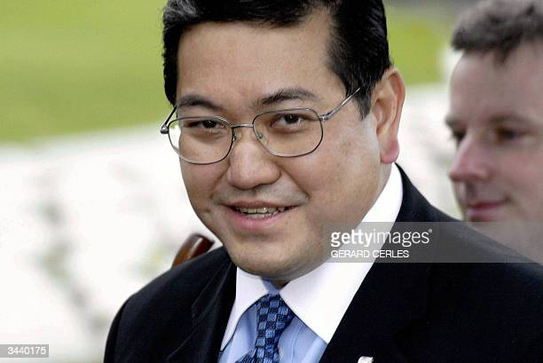 Thailand's Foreign minister Surakiart Sathirathai arrives for the sixth AsiaEurope foreign ministers'meeting in Straffan 17 April 2004 EU and Asian...