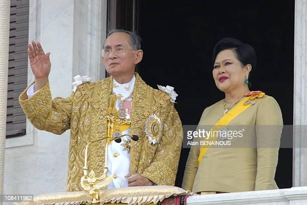 Thailand's King Bhumibol Adulyadej and Queen Sirikit in Bangkok, Thailand on June 09, 2006.