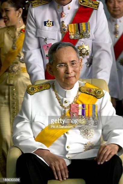 Thailand's king Bhumibol Adulyadej smiles on his birthday after leaving Siriraj hospital. Thailand's king Bhumibol Adulyadej was moved from the...