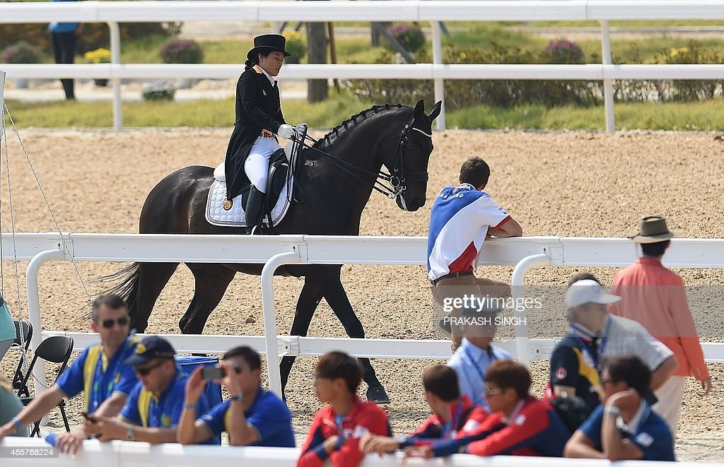 ASIAD-2014-EQUESTRIAN-THA : News Photo