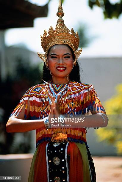 Thailand,Thale Noi village,mahohra dancer in traditional costume