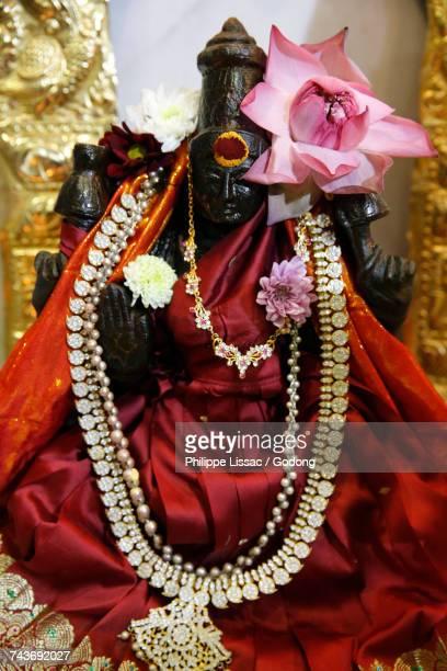 Thaipusam (Tamil new year) celebration at the Paris Ganesh temple. Goddess Laxmi. France.