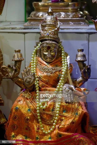 Thaipusam celebration at the Paris Ganesh temple. Goddess Laxmi. France.