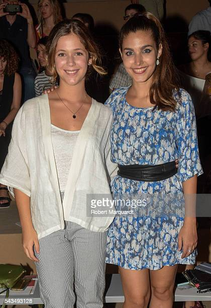 Thais Blume and Aida Flix attend the front row of Sita Murt show during the Barcelona 080 Fashion Week Spring/Summer 2017 at the INFEC on June 28...