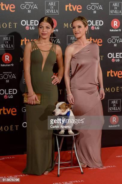 Thais Blume and Maríi Esteve attend Goya Cinema Awards 2018 at Madrid Marriott Auditorium on February 3 2018 in Madrid Spain