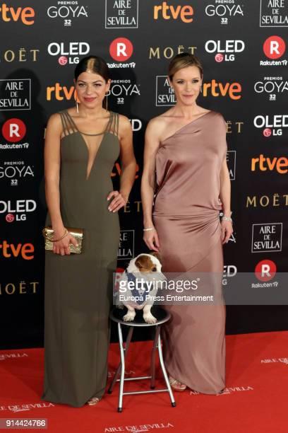 Thais Blume and Maria Esteve attend Goya Cinema Awards 2018 at Madrid Marriott Auditorium on February 3 2018 in Madrid Spain