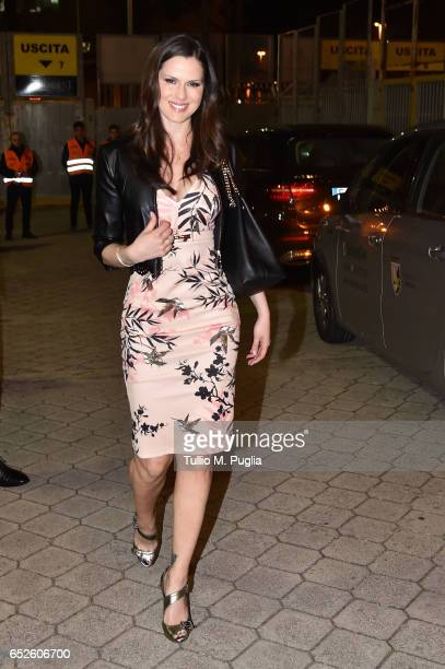 Thais Souza Wiggers arrives before the Serie A match between US Citta di Palermo and AS Roma at Stadio Renzo Barbera on March 12 2017 in Palermo Italy