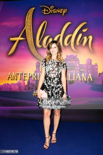 Thais Souza Wiggers attends the Aladdin photocall and red carpet at The Space Cinema Odeon on May 15 2019 in Milan Italy