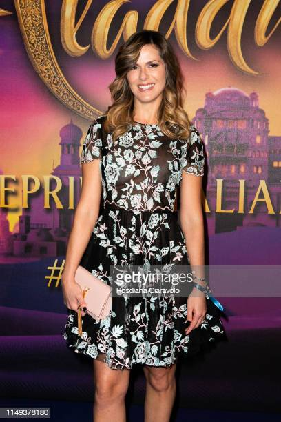 Thais Souza Wiggers attends the Aladdin photocall and red carpet at The Space Cinema Odeon on May 15, 2019 in Milan, Italy.