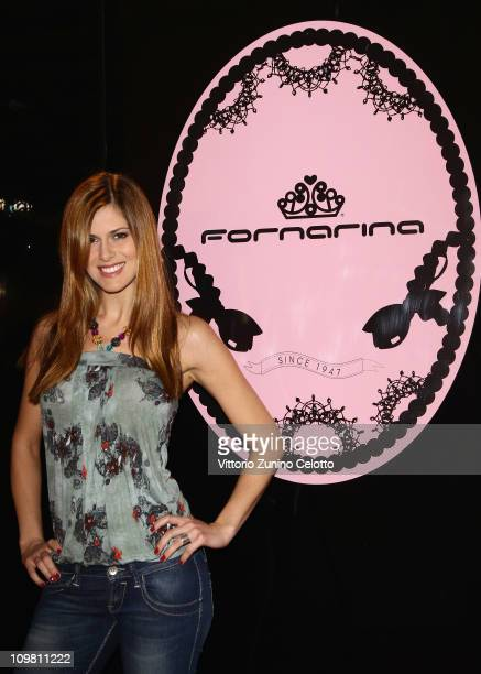 Thais Souza Wiggers attends the Fornarina Sportglam HikeUp Launch on March 6 2011 in Milan Italy