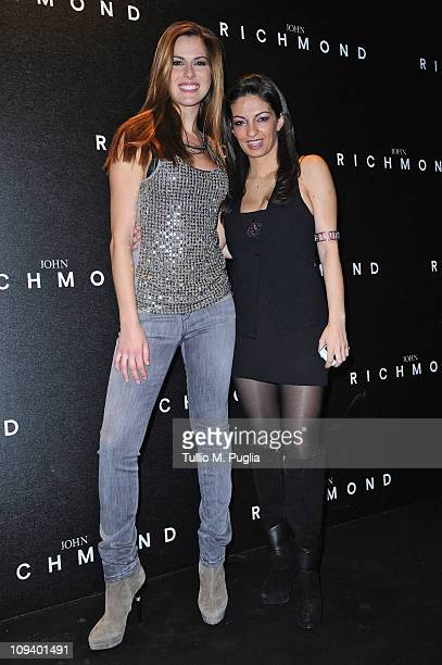 Thais Wiggers and Alessandra Moschillo attend the John Richmond Fashion Show as part of Milan Fashion Week Womenswear Autumn/Winter 2011 on February...