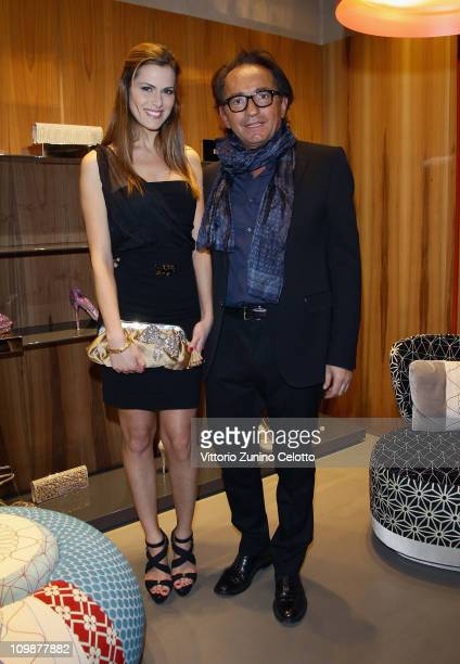 Thais Wiggers and Enio Silla attend the Le Silla Flagship Store Opening on March 8 2011 in Milan Italy