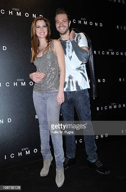 Thais Wiggers and Paul Baccaglini attend the John Richmond Fashion Show as part of Milan Fashion Week Womenswear Autumn/Winter 2011 on February 23...