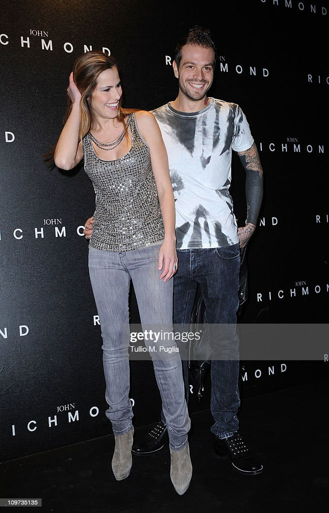 Thais Wiggers and Paul Baccaglini attend the John Richmond Fashion Show as part of Milan Fashion Week Womenswear Autumn/Winter 2011 on February 23, 2011 in Milan, Italy.