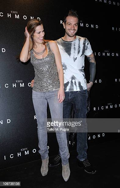 Thais Wiggers and Paul Baccaglini attend the John Richmond Fashion Show as part of Milan Fashion Week Womenswear Autumn/Winter 2011 on February 23,...