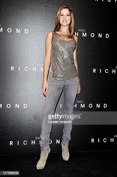 Thais Wiggers attends the John Richmond Fashion Show as part of Milan Fashion Week Womenswear Autumn/Winter 2011 on February 23 2011 in Milan Italy