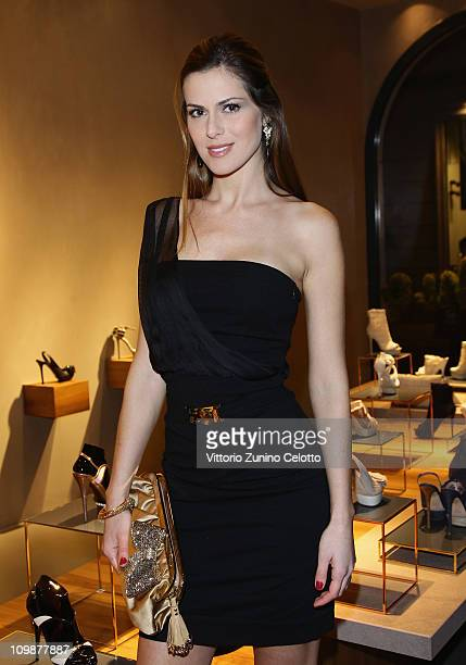 Thais Wiggers attends the Le Silla Flagship Store Opening on March 8 2011 in Milan Italy