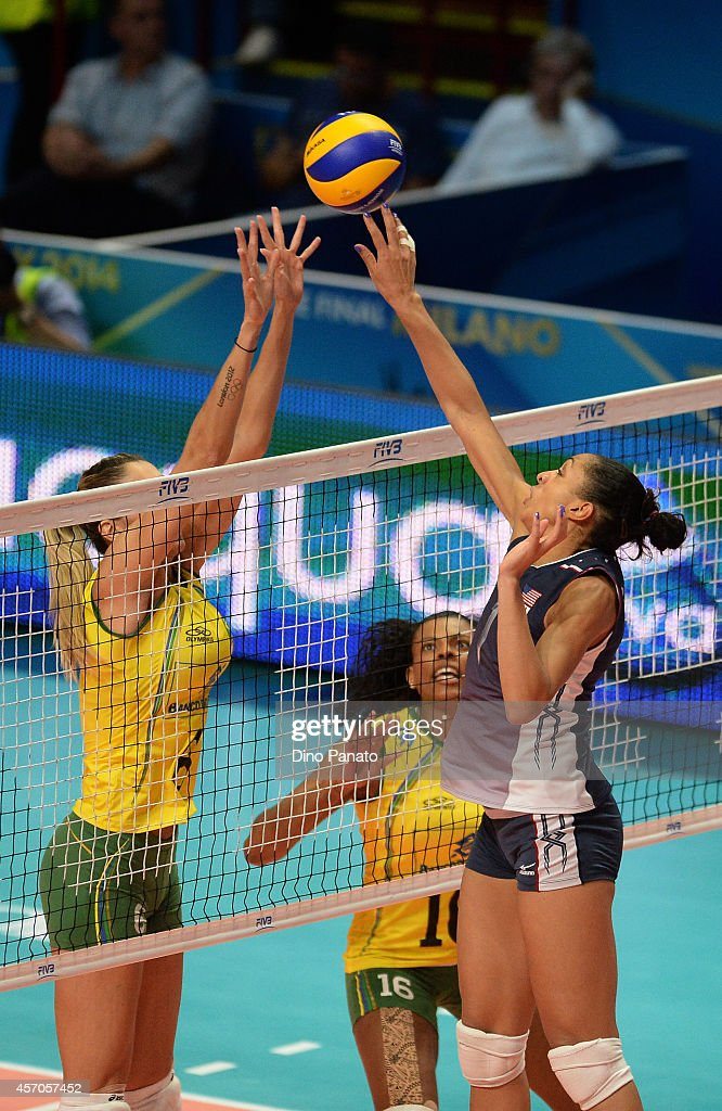 USA v Brazil - FIVB Women's World Championship