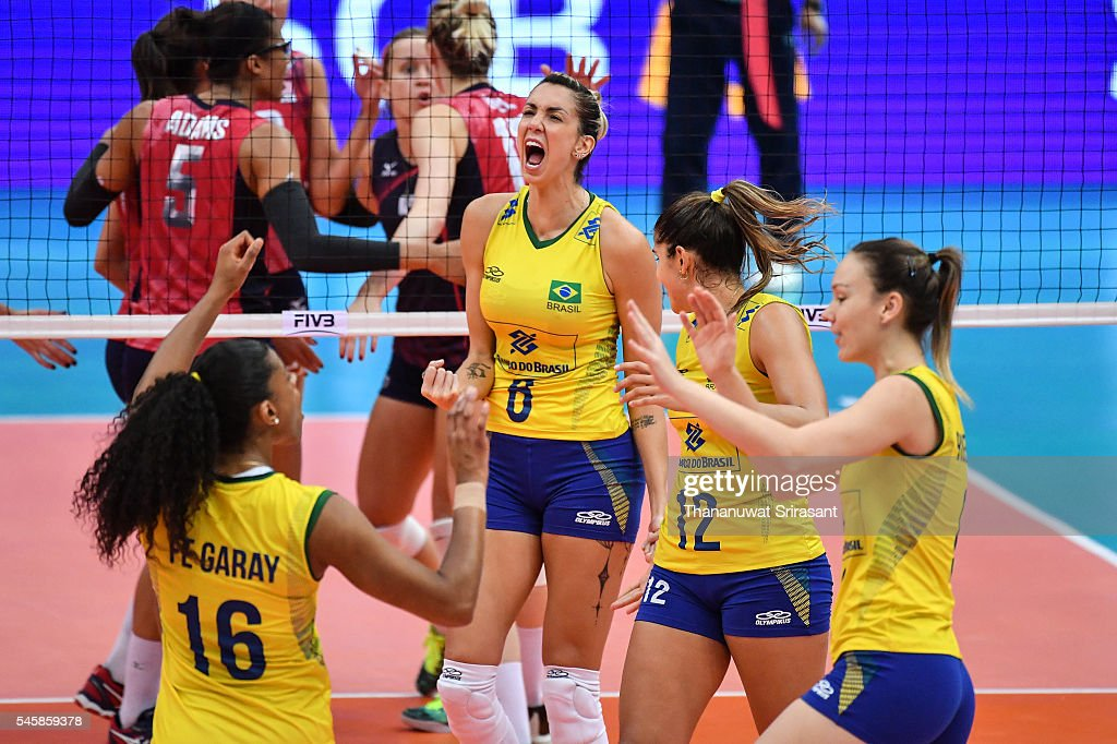 Thaisa Menezes of Brazil during day five of the FIVB World Grand Prix Group 1 Final on July 10, 2016 in Bangkok, Thailand.