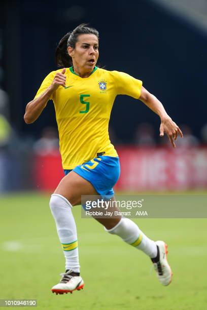 Thaisa of Brazil during the 2018 Tournament Of Nations women match between Australia and Brazil at Children's Mercy Park on July 26 2018 in Kansas...