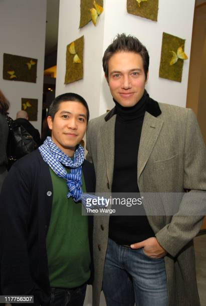 Thakoon Panichgul and Eric Villency during MAURICE VILLENCY Celebrates THAKOON Spring 2007 Collection at Maurice Villency in New York City, New York,...