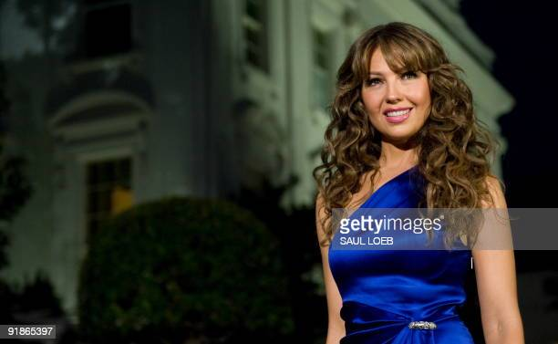 Thalía arrives for a taping of �In Performance at the White House: Fiesta Latina,� a concert hosted by US President Barack Obama celebrating Hispanic...