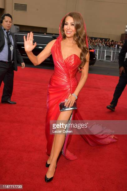 Thalía attends the 20th annual Latin GRAMMY Awards at MGM Grand Garden Arena on November 14, 2019 in Las Vegas, Nevada.