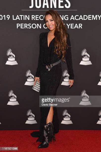 Thalía attends the Latin Recording Academy's 2019 Person of the Year gala honoring Juanes at the Premier Ballroom at MGM Grand Hotel Casino on...