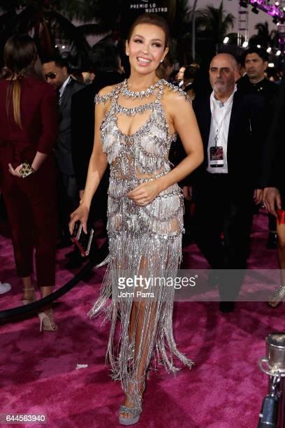 Thalía attends Univision's 29th Edition of Premio Lo Nuestro A La Musica Latina at the American Airlines Arena on February 23 2017 in Miami Florida