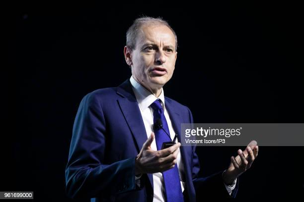 Thales CFO Pascal Bouchiat attends the Thales group general shareholders meeting on May 23 2018 in Paris France The electronics group specializing in...