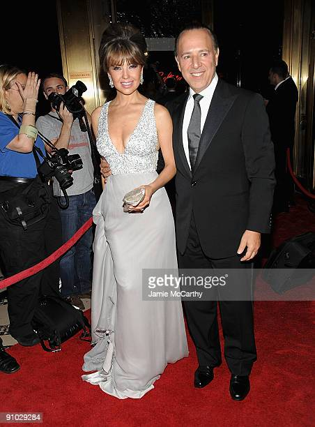 Thalia and Tommy Mottola attend the 10th annual New Yorkers for Children fall gala at Cipriani 42nd Street on September 22 2009 in New York City