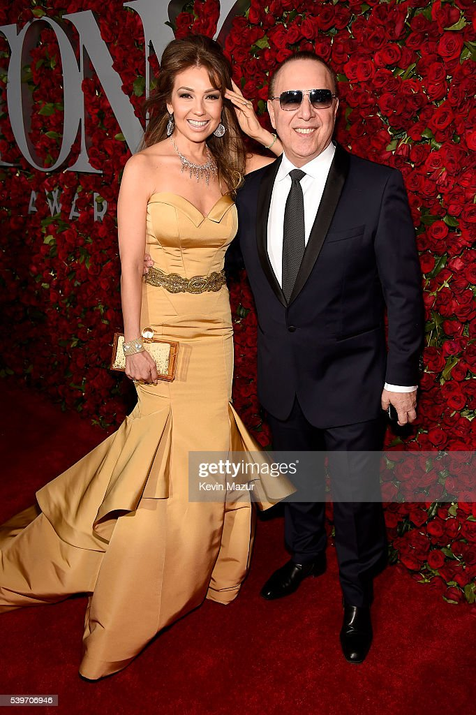 Thalia and Tommy Mottola attend the 70th Annual Tony Awards at The Beacon Theatre on June 12, 2016 in New York City.