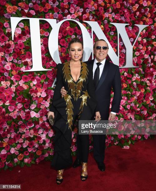 Thalia and Tommy Mottola attend the 72nd Annual Tony Awards at Radio City Music Hall on June 10 2018 in New York City