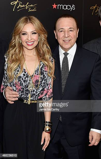 Thalia and Tommy Mottola attend the launch of the Thalia Sodi Collection at Macy's Herald Square on March 4 2015 in New York City