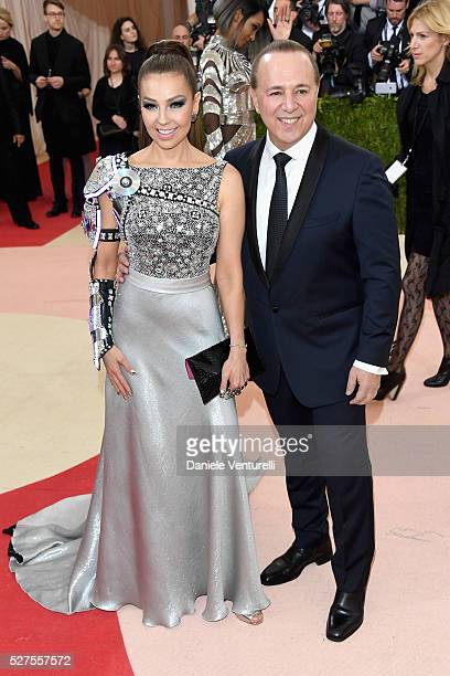 """Thalia and Tommy Mottola attend the """"Manus x Machina: Fashion In An Age Of Technology"""" Costume Institute Gala at Metropolitan Museum of Art on May 2,..."""