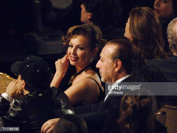 Thalia and Tommy Mottola during 20th Annual Rock and Roll Hall of Fame Induction Ceremony Audience and Backstage at Waldorf Astoria Hotel in New York...