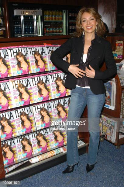 Thalia at the launch of her new magazine Thalia during Thalia and American Media Launch Thalia Magazine at Grand Central Station in New York City New...