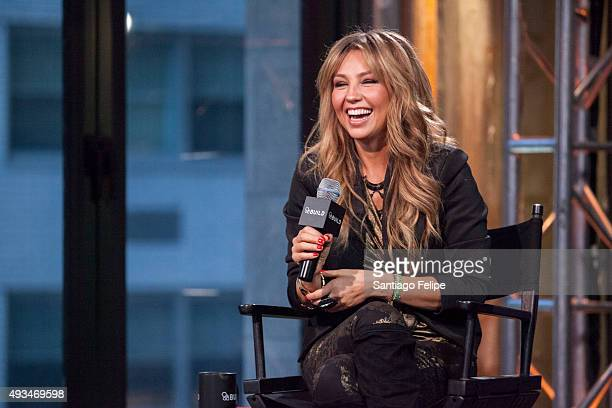 Thalia attends 'AOL BUILD Presents Thalia' at AOL Studios In New York on October 20 2015 in New York City