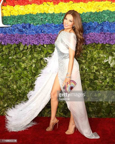 Thalia attends the 2019 Tony Awards at Radio City Music Hall on June 9 2019 in New York City
