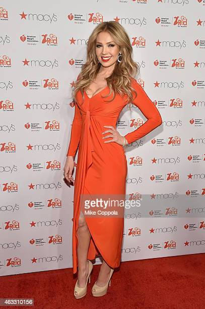 Thalia attends the Go Red For Women Red Dress Collection 2015 presented by Macy's fashion show during MercedesBenz Fashion Week Fall 2015 at Lincoln...