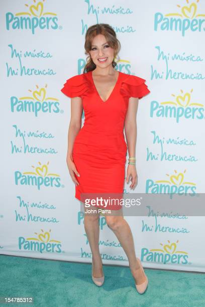 Thalia attends the Pampers My Music, My Heritage at New World Symphony on October 25, 2012 in Miami Beach, Florida.