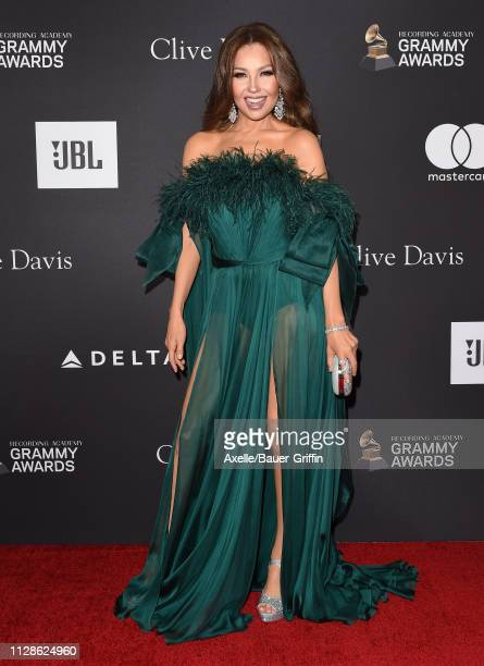 Thalia attends The Recording Academy and Clive Davis' 2019 PreGRAMMY Gala at The Beverly Hilton Hotel on February 09 2019 in Beverly Hills California