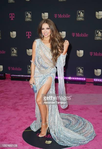 Thalia attends Univision's Premio Lo Nuestro 2020 at AmericanAirlines Arena on February 20 2020 in Miami Florida