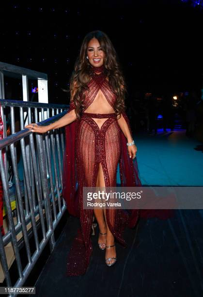 Thalia backstage at the 20th annual Latin GRAMMY Awards at MGM Grand Garden Arena on November 14 2019 in Las Vegas Nevada