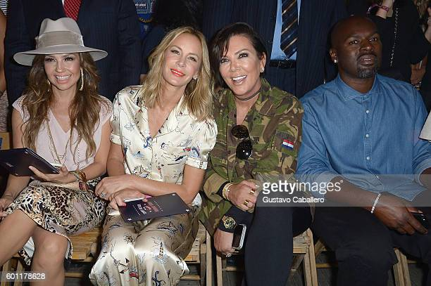 Thalia Dee Hilfiger Kris Jenner and Corey Gamble attend the #TOMMYNOW Women's Fashion Show during New York Fashion Week at Pier 16 on September 9...