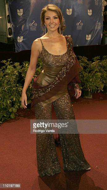 Thalia during 2004 Premio Lo Nuestro Arrivals at Miami Arena in Miami Florida United States