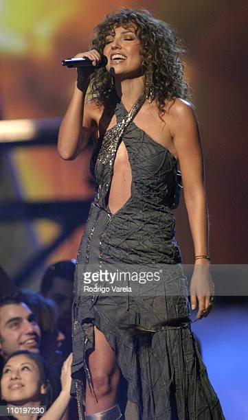 Thalia during 2004 Premio Lo Nuestro Show at Miami Arena in Miami Florida United States