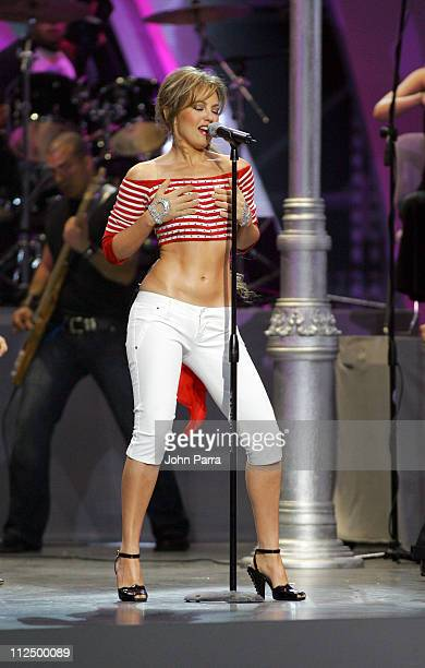 Thalia during 2005 Billboard Latin Music Awards Show at Miami Arena in Miami Florida United States