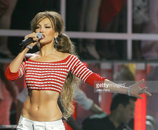 Thalia during 2005 Billboard Latin Music Awards Show at Miami Arena in Miami Florida United States