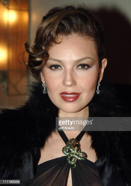 Thalia during 20th Annual Rock and Roll Hall of Fame Induction Ceremony Audience and Backstage at Waldorf Astoria Hotel in New York City New York...